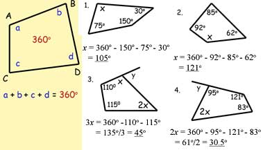 worksheets on angles